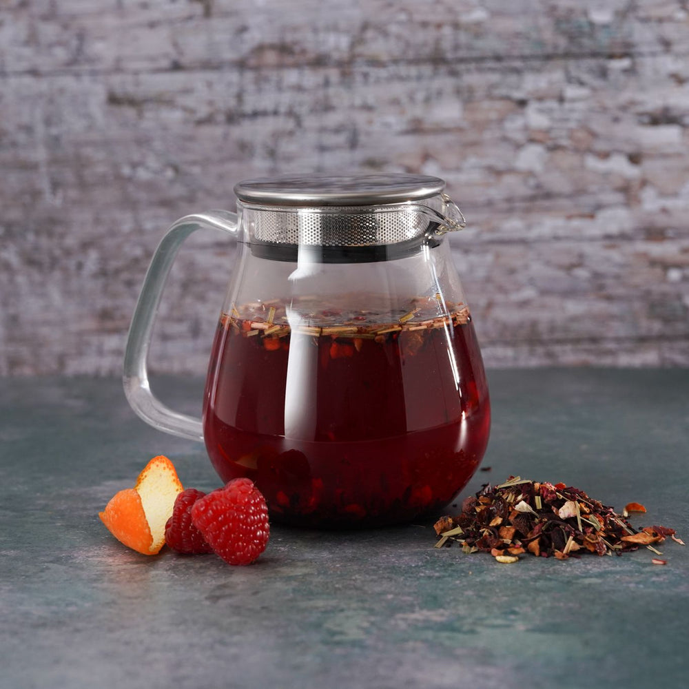 Brew Boffin Set - CHANGE LOOSE LEAF MIXED FRUIT TEA 500G - with Kinto Tea Pot