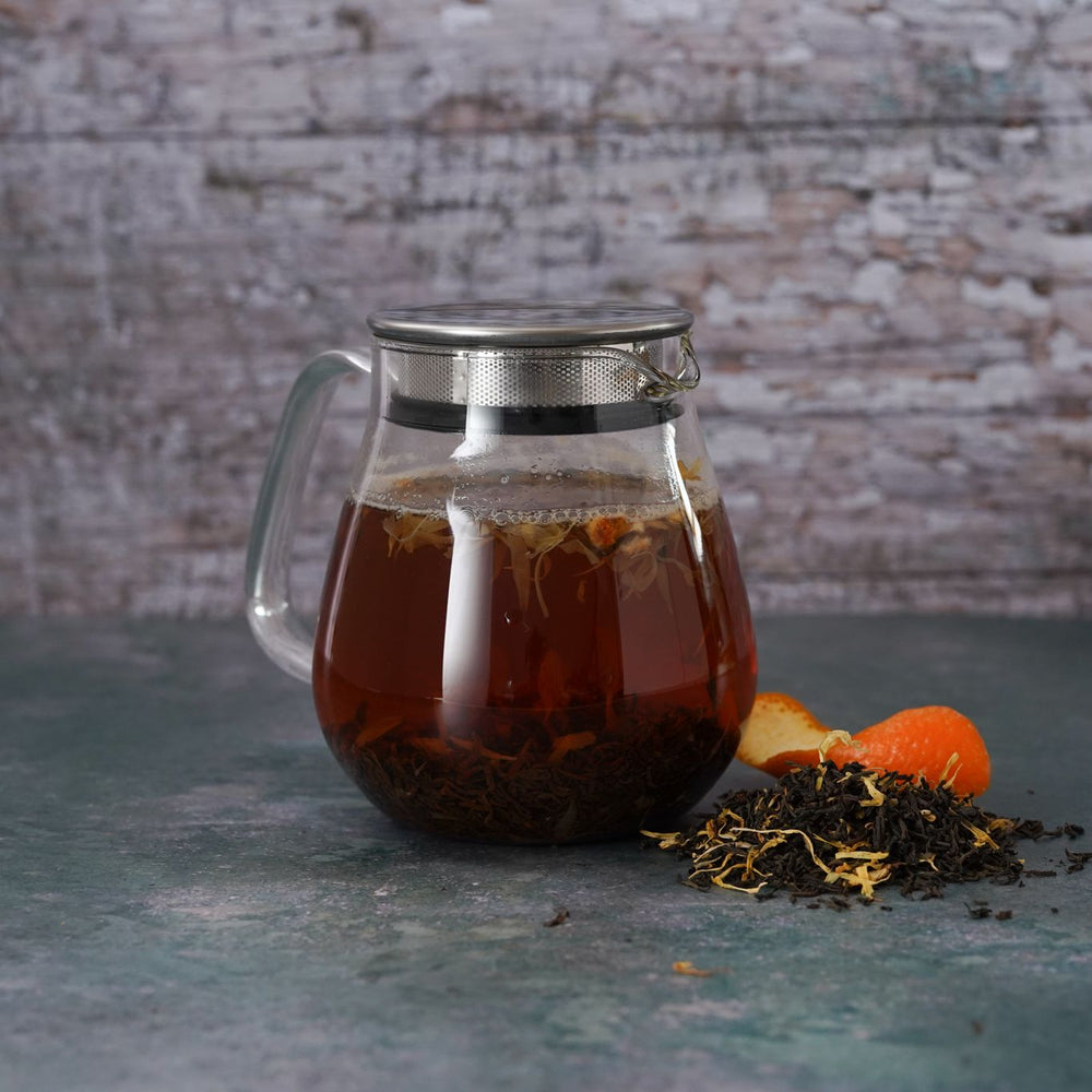 Brew Boffin Set - CHANGE LOOSE LEAF EARL GREY TEA 500G - with Kinto Tea Pot