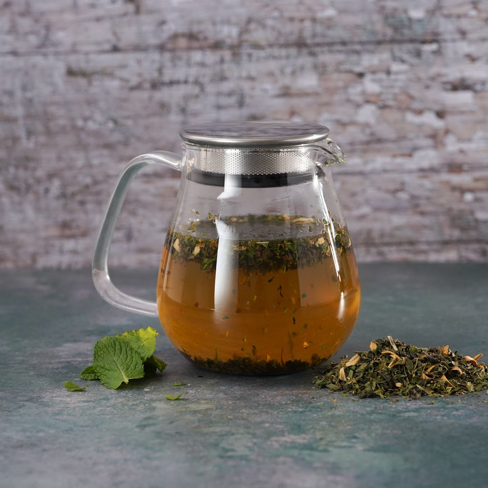 Brew Boffin Set - CHANGE LOOSE LEAF MOROCCAN MINT TEA 500G - with Kinto Tea Pot