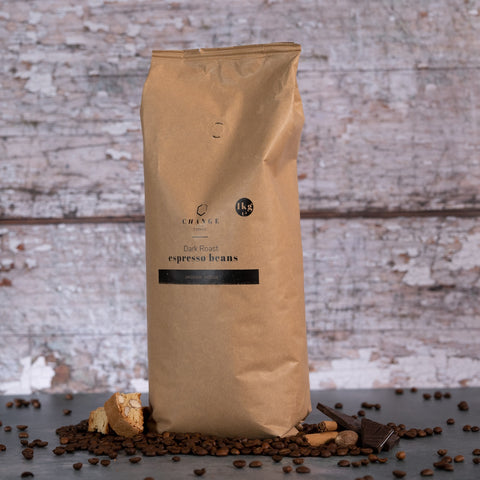 Change Coffee Dark Roast Beans - Brazilian & Indian - 1kg