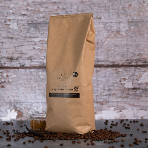 Change Coffee Fairtrade Beans - Central American & Indian Blend - 1kg