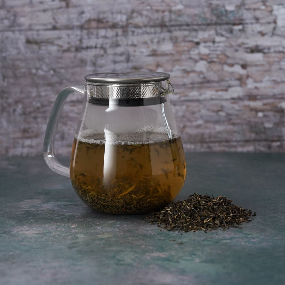 Brew Boffin Set - CHANGE LOOSE LEAF YUNNAN GREEN TEA 500G - with Kinto Tea Pot