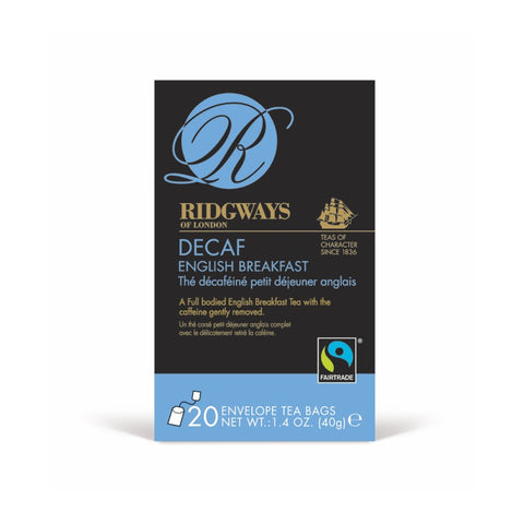 Ridgways Decaf English Breakfast Fairtrade Tea Bags 20 x 6
