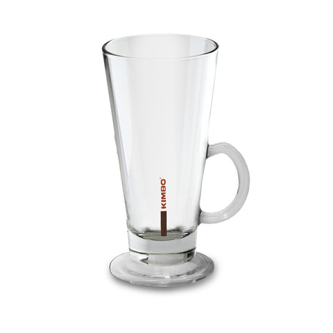 Kimbo Coffee Latte Glass