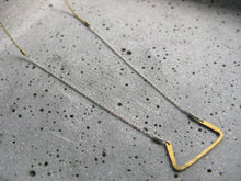 Load image into Gallery viewer, Hathor : delicate geometric necklace : silver brass : egyptian jewelry