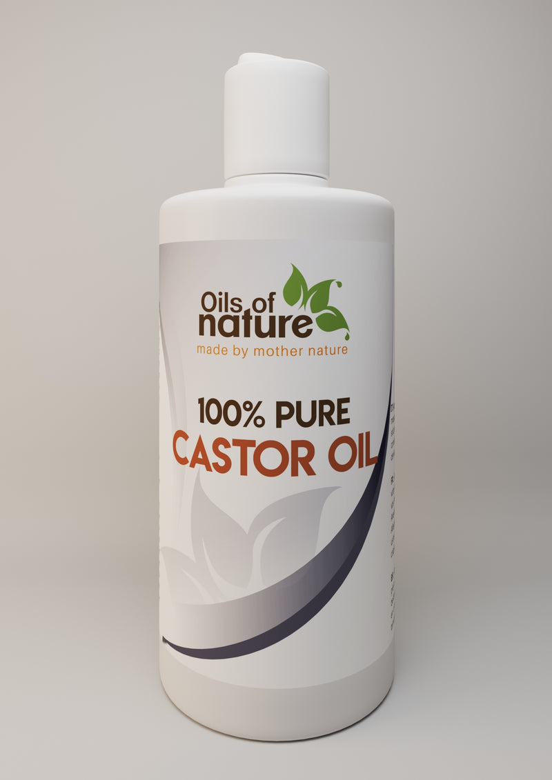 Oils of Nature Pure Castor Oil Cold-Pressed - Ideal For Hair, Eyelash/Eyebrow Growth