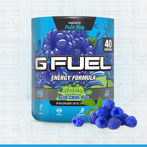 SOUR BLUE CHUG RUG TUB - GFUEL XGamer GamerGearShop