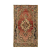 3x5 Pink Vintage Turkish Area Rug