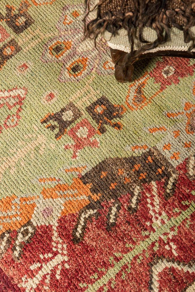 3x10 Red Vintage Turkish Runner Rug