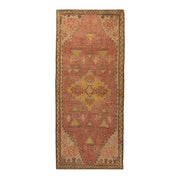 3x8 Pink Vintage Turkish Runner Rug