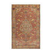 4x6 Red Vintage Turkish Area Rug
