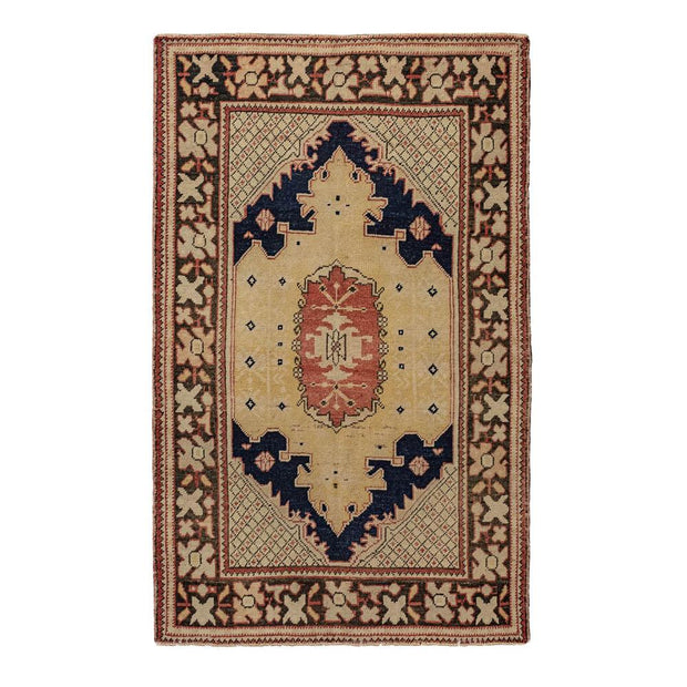 4x6 Green Vintage Turkish Area Rug