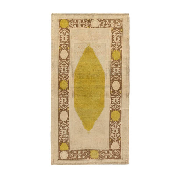 3x5 Beige Vintage Turkish Area Rug