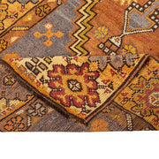 3x10 Orange Vintage Turkish Runner Rug