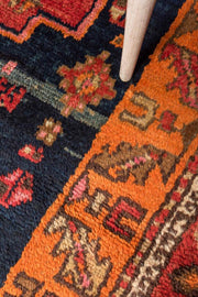 4x12 Blue Vintage Turkish Runner Rug