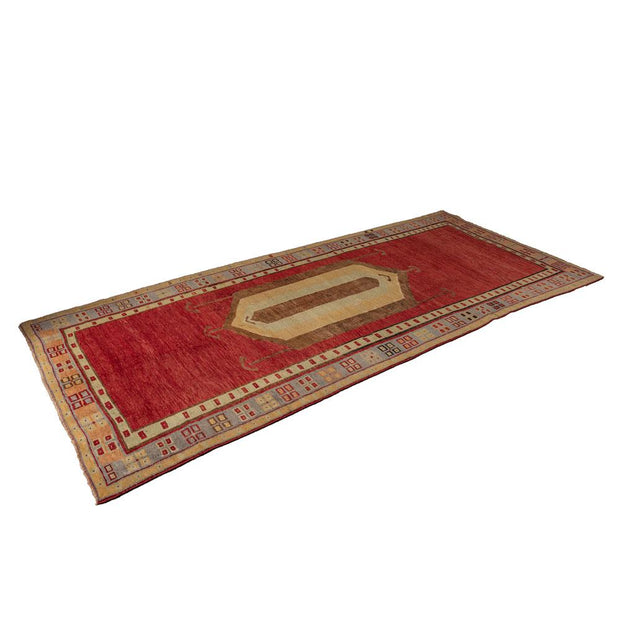 4x9 Antique Red Vintage Turkish Runner Rug