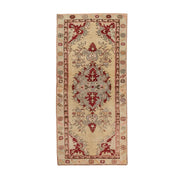 2x5 Beige Vintage Turkish Area Rug