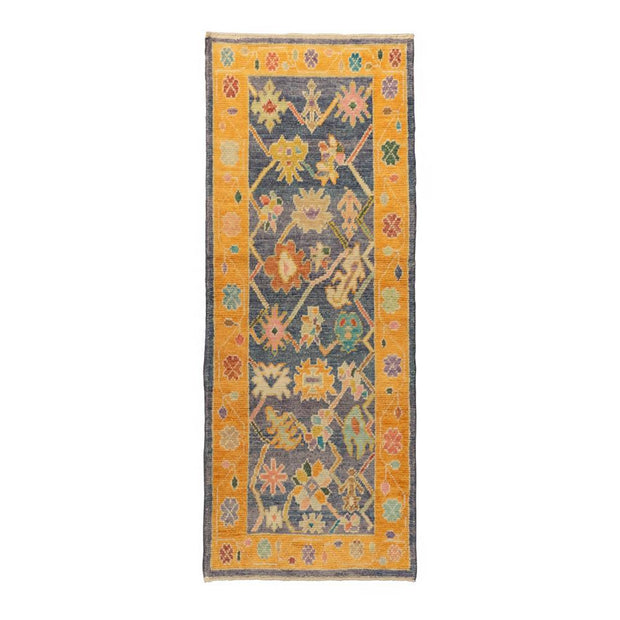 3x7 Orange Modern Oushak Runner Rug