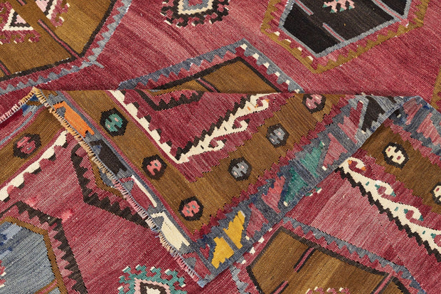 7x10 Red Vintage Turkish Area Rug