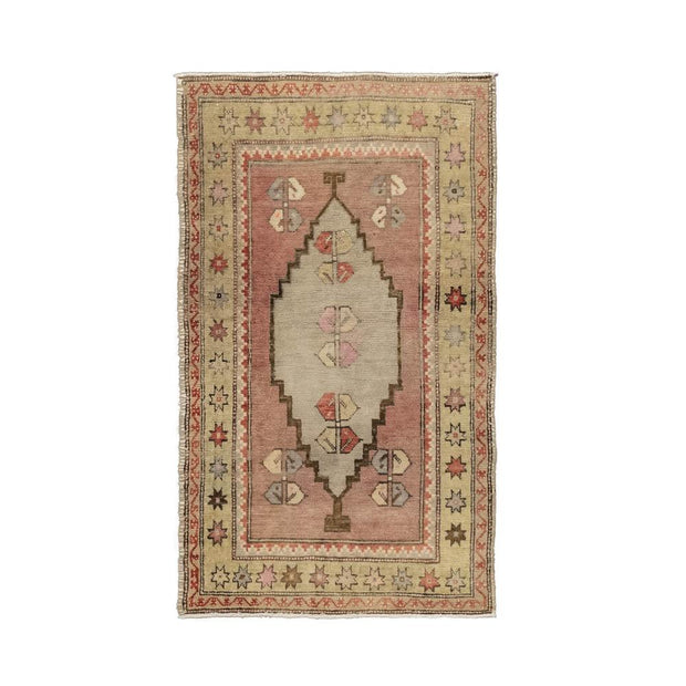 2x4 Beige Vintage Turkish Area Rug