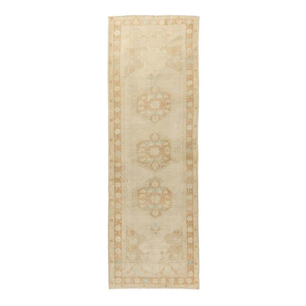 3x10 Beige Vintage Turkish Runner Rug