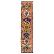 3x13 Orange Vintage Turkish Runner Rug