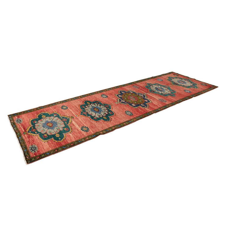 3x10 Pink Vintage Turkish Runner Rug