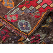3x11 Red Vintage Turkish Runner Rug