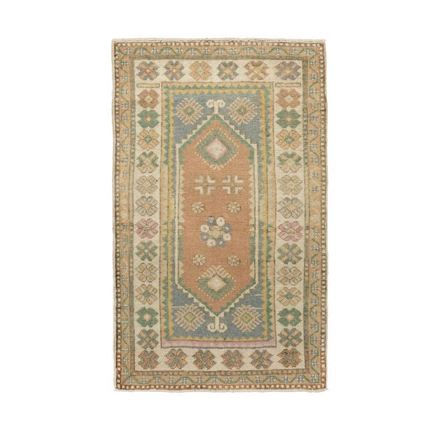 2x4 Pink Vintage Turkish Area Rug