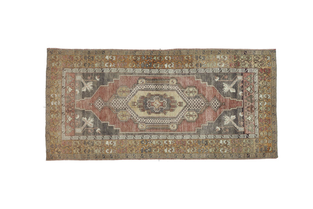 5x10 Brown Vintage Turkish Area Rug