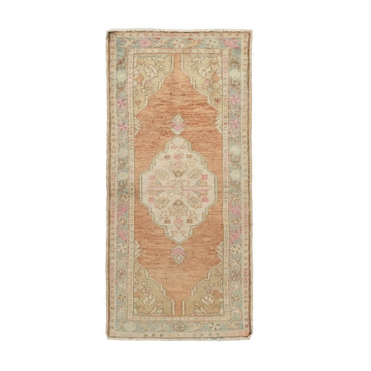 2x5 Pink Vintage Turkish Area Rug