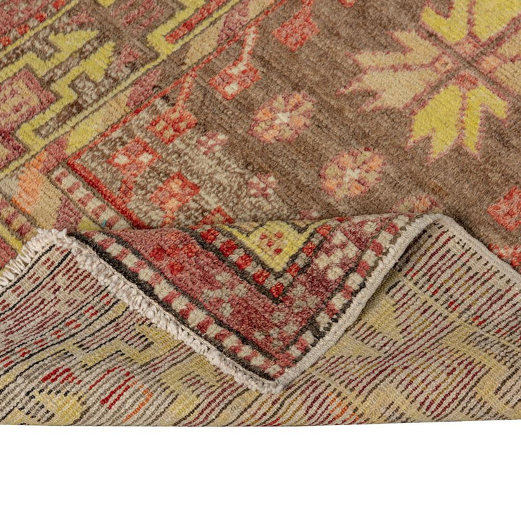 2x4 Brown Vintage Turkish Area Rug