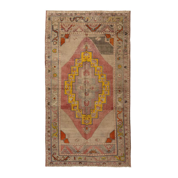 4x7 Pink Vintage Turkish Area Rug