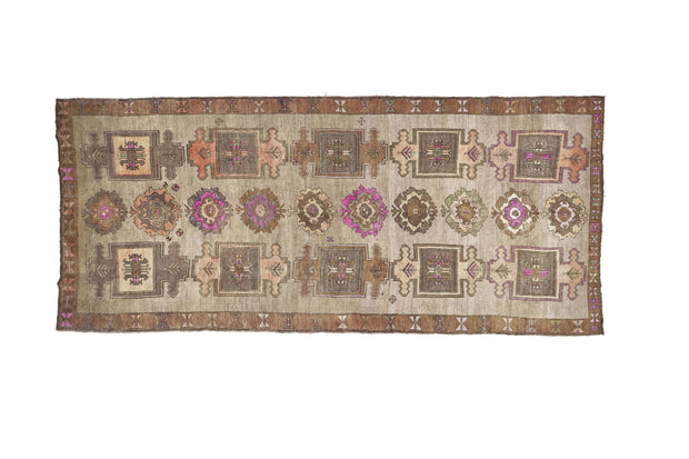 6x15 Brown Vintage Turkish Runner Rug