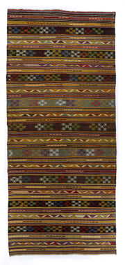 5x12 Brown Vintage Turkish Area Rug