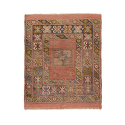 3x4 Pink Vintage Turkish Area Rug