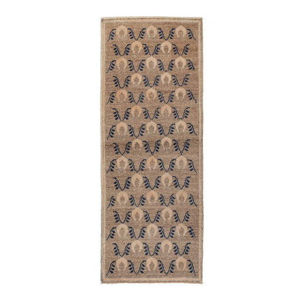 2x6 Brown Vintage Turkish Area Rug