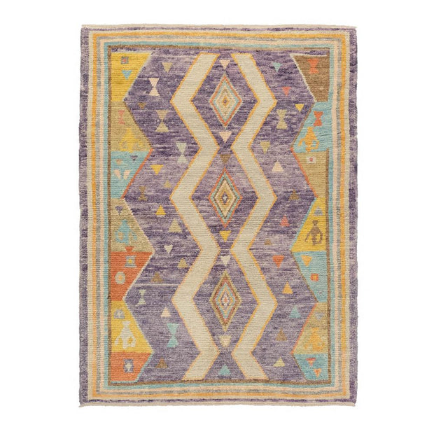 4x6 Purple Modern Oushak Area Rug