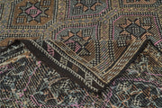 5x9 Brown Vintage Turkish Area Rug