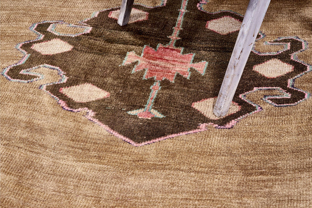 5x13 Brown Vintage Turkish Runner Rug