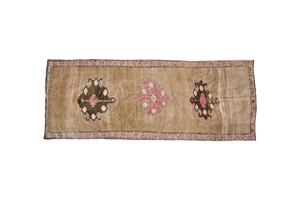 5x13 Brown Vintage Eastern Turkish (Kurdish) Masculine Runner Rug