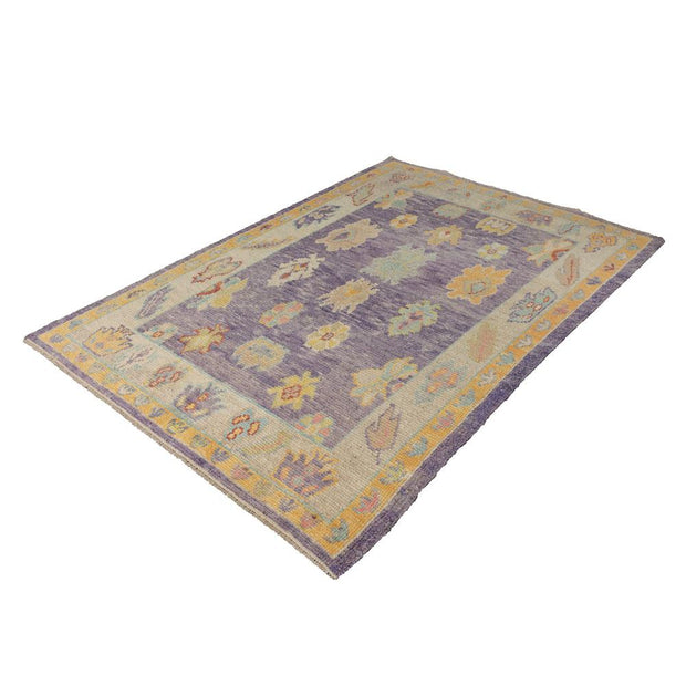 4x7 Yellow Vintage Oushak Area Rug