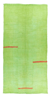 5x10 Green Vintage Turkish Area Rug