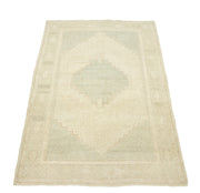 3x5 Antique Vintage Shabby Chic Naturel Turkish Oushak Area Rug