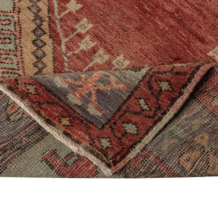 3x4 Red Vintage Turkish Area Rug-Turkish Rugs-Oriental Rugs-Kilim Rugs-Oushak Rugs