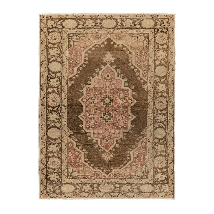 4x5 Green Vintage Turkish Area Rug-Turkish Rugs-Oriental Rugs-Kilim Rugs-Oushak Rugs