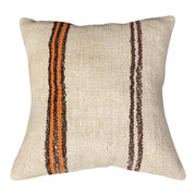 Designer Wool White Sofa Pillow
