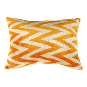 Modern Velvet Orange Sofa Pillow