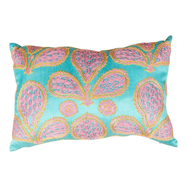 Modern Embroidered Multicolor Sofa Pillow