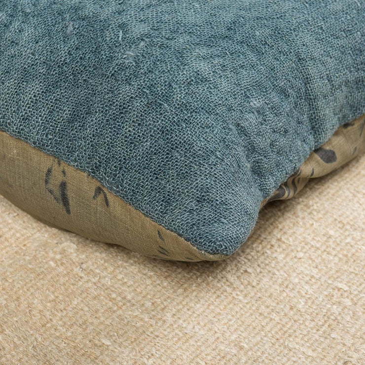 Designer Wool Blue Sofa Pillow-Turkish Rugs-Oriental Rugs-Kilim Rugs-Oushak Rugs